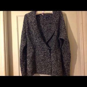 Jones New York marled black sweater